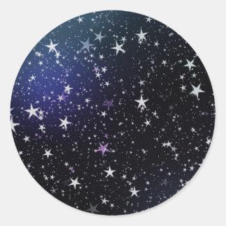 Starry Sky Round Sticker