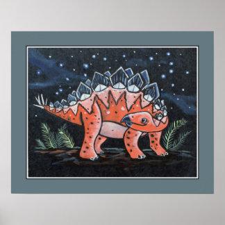 Starry Sky - Stegosaurus. Kids Wall Art