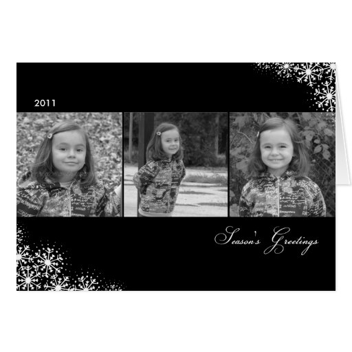 Starry Snowflakes Christmas/ Holiday Photo Cards Greeting Card