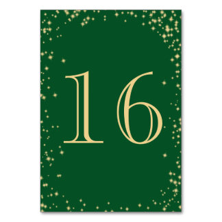 Starry Sparkle Table Number