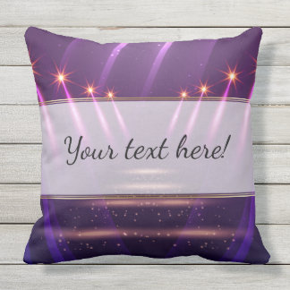 Starry Spotlights on Royal Purple Outdoor Pillow