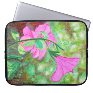 Starry, starry morning glory watercolo laptop computer sleeves
