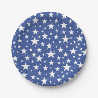 Starry Starry Night Blue Paper Plates 7 Inch Paper Plate