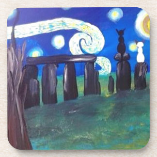 Starry Stonehenge Drink Coasters