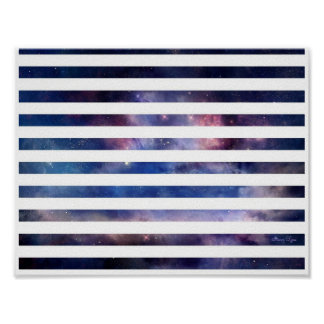 Starry Stripes Poster