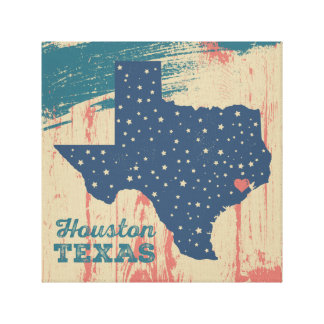 Starry Texas Art - Houston Canvas Print