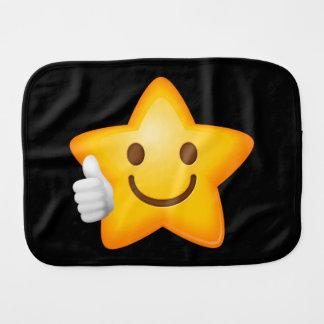 Starry Thumbs Up Emoji Baby Burp Cloth