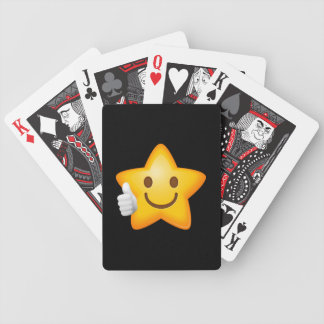Starry Thumbs Up Emoji Bicycle Playing Cards