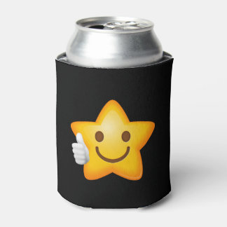Starry Thumbs Up Emoji Can Cooler