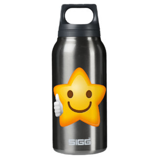 Starry Thumbs Up Emoji Insulated Water Bottle