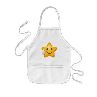 Starry Thumbs Up Emoji Kids Apron