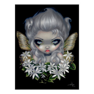 Starry Wild Jasmine Fairy ART PRINT gothic fantasy