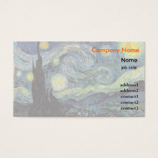 Starrynight, Vincent van Gogh Business Card