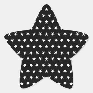 Stars 8 Black and White Star Sticker