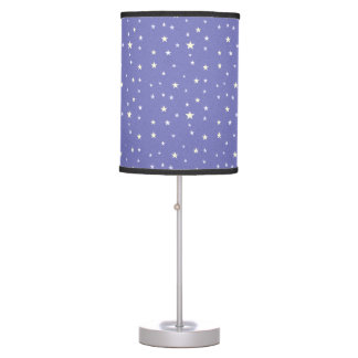 Stars Abounding on Lavender Blue Background Table Lamp