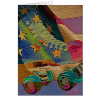 Stars Abstract Roller Skate Card
