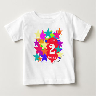 Stars and Balloon 2nd Birthday Baby T-Shirt