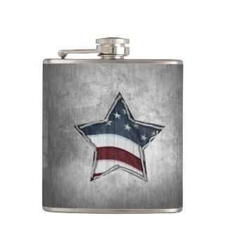 Stars and Bars Flask