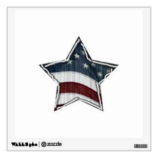 Stars and Bars Wall Decal