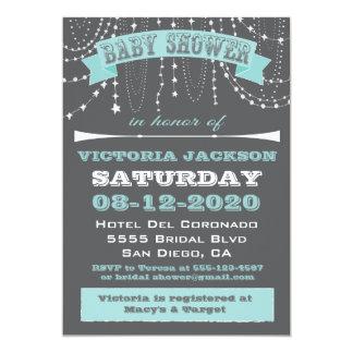 Stars and beads Baby Shower Invitations