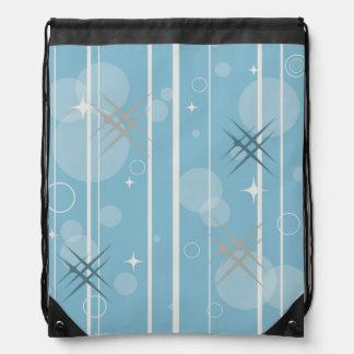 Stars and circles shapes drawstring bag