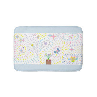 Stars and Fancy Clouds Mat
