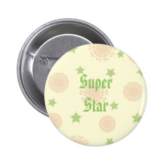 Stars and flowers button
