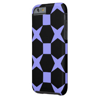 STARS AND HEXAGONS (BLUE) iPhone 6 Case