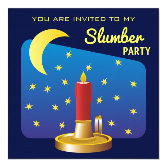 Stars and Moon Birthday Boy Slumber Party Card