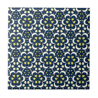 Stars and moon tessellation ceramic tiles