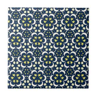 Stars and moon tessellation tile