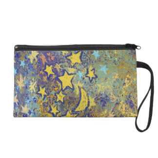 Stars and Moon Wristlet