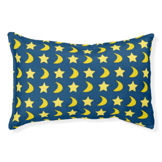 Stars And Moons Blue And Yellow Small Dog Bed