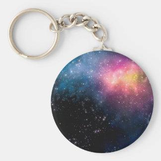 Stars and Nebulas Basic Round Button Keychain