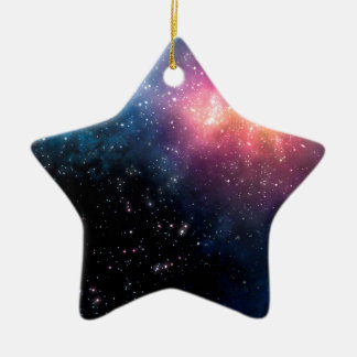 Stars and Nebulas Ceramic Star Ornament