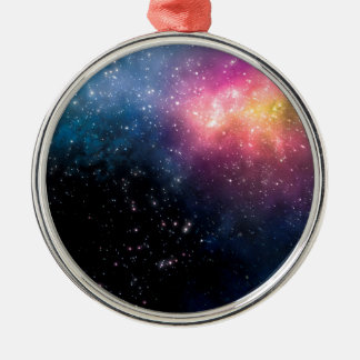 Stars and Nebulas Silver-Colored Round Ornament