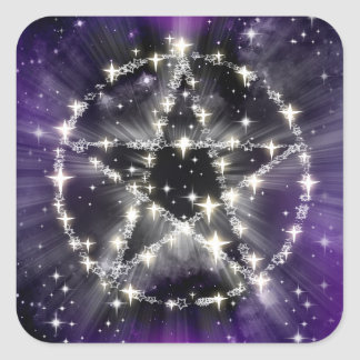 Stars and pentagram stickers