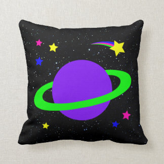 Stars and  Planet Throw Pillow