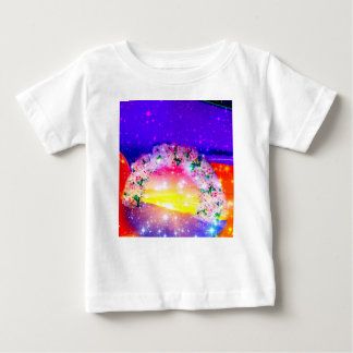 Stars and rainbow of flowers in celebration baby T-Shirt