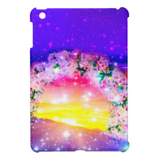 Stars and rainbow of flowers in celebration cover for the iPad mini