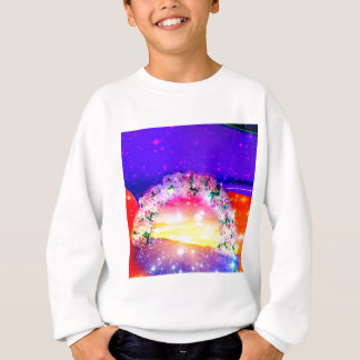 Stars and rainbow of flowers in celebration sweatshirt