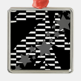 Stars and Rectangles in Grey White and Black Ornaments