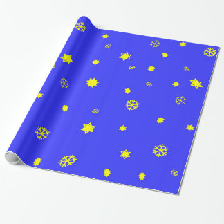 Stars and Snowflakes Wrapping Paper
