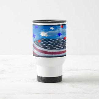 stars and stripe flag white travel mug