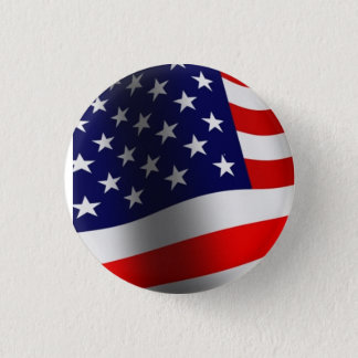 Stars and Stripes 1 Inch Round Button