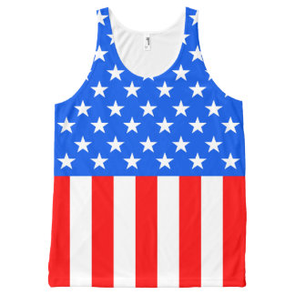 Stars and Stripes 4th of July Tank Top