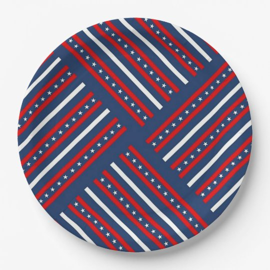 Stars and Stripes 9 Inch Paper Plate