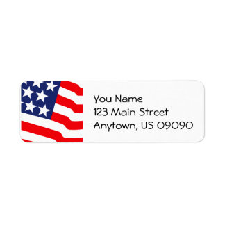 Stars And Stripes Address Labels
