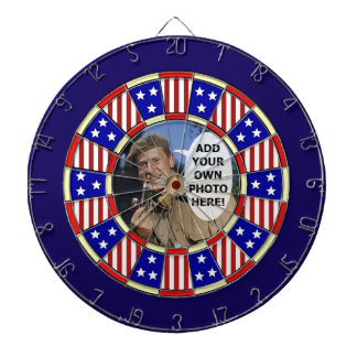 Stars and Stripes American Add Custom Photo Dartboard
