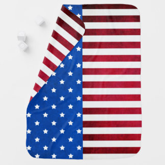 Stars and Stripes-American Flag by Shirley Taylor Baby Blanket
